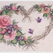 Вышивки Венок из цветов фото