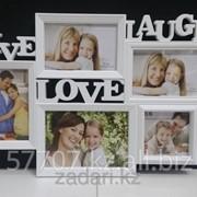 Фоторамка Love, Laugh, Live на 5 фотографии фото