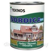 Краска для дерева NORDICA AQUA, 0.9л, TEKNOS