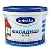 Краска водно-дисперсионная фасадная «SNIEZKA ФАСАДНАЯ», 10 л (15кг) фото