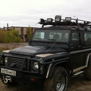 Автомобиль Land Rover Defender 130 черный фото