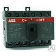 Рубильник реверсивный (перекидной ) OT 100 F3C 100A ABB фото
