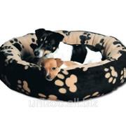 """Спальное место для собак круглое Trixie """"Sammy"""" черный/бежевый (Трикси), 70 см фото"""