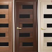 Дверь из бруса Новый стиль Пиана BLK ясень фото