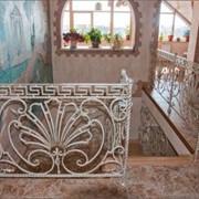Кованые ограждения для балконов и лестниц; фото
