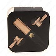 Внутриканальные наушники с гарнитурой (черно-золотые) фото