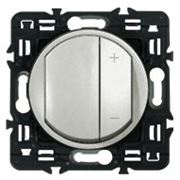 Светорегулятор кнопочный Legrand Celiane 300Вт с лицевой панелью (титан) фото