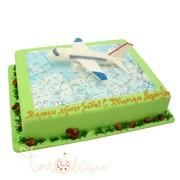 Праздничный торт с пассажирским лайнером №835