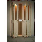 Дверь межкомнатная гармошка фото