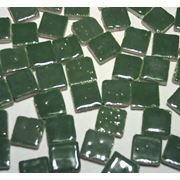 Керамическая мозаика 0.5х0.5 зеленый темный фото