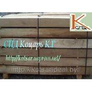 Шахтная шпала деревянная узкоколейная фото