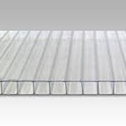 Поликарбонат сотовый 12000х2100х4 прозрачный фото