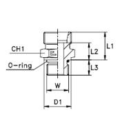 Штуцер ввертный / прямой, уплотнение тип А Тип: 1009…1 корпус фото