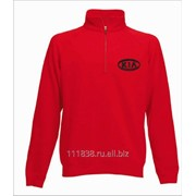 Толстовка красная Kia вышивка черная фото