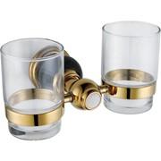 Настенный держатель-стаканчик двойной (gold) фото