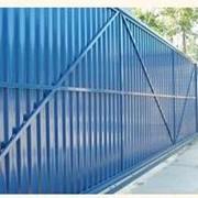 Ворота откатные из обшивки профлистом фото