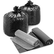 Пакеты д/мусора 35л (20 шт) голубые фото
