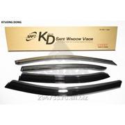 Дефлектор окон черный по 3 компл в упаковке Kyoung Dong, арт. K-901-56 фото