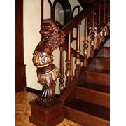 Резные балясины - Резьба на лестнице - Забежной столб