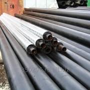 Трубы стальные в теплоизоляции из пенополиуретана ППУ с оцинкованной оболочкой ОЦ фото