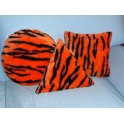 Подушки дизайнерские декоративные Тигриное трио фото