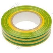 Изолента ПВХ желто-зелёная фото