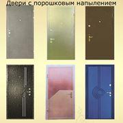Двери металлические с порошковым напылением фото