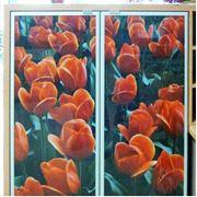 Вставки стеклянные декоративные для дверей фото