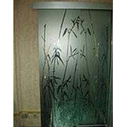 Раздвижные двери из закаленного стекла фото
