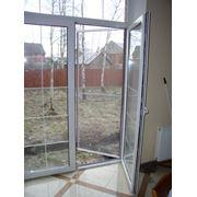Балконные двери из пластика фото