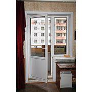 Пластиковые балконные двери фото