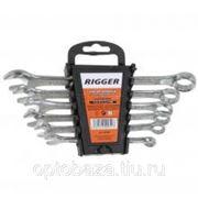 Ключи рожковые RIGGER, набор из 6, исполнение Mirrow фото
