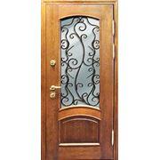 Стальная дверь со стеклопакетом фото