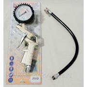 Пневматический пистолет для подкачки шин с манометром. 25/D BR16 фото