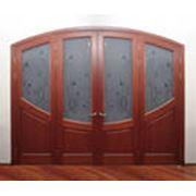 Двери из ценных пород древесины фото