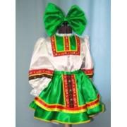 Костюм плясовой (девочка, зеленый) фото