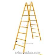 Полностью диэлектрическая двухсторонняя лестница-стремянка с перекладинами Krause 819765 фото