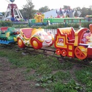 Детская железная дорога Веселый паровозик фото