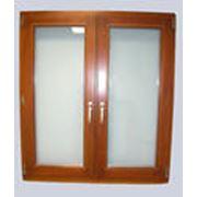Изготовление и продажа деревянных окон, деревяных окон со стеклопакетом, деревянных филенчатых дверей, банных дверей (на клиньях) фото