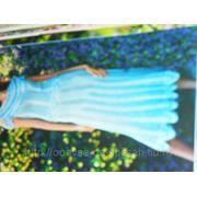 Юбка голубая фото