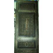 Дизайнерские резные двери из массива дуба фото