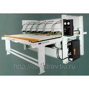 Горячий пресс горизонтальный для мебельного щита с узлом клеенанесения мод. BALD 410 Z-100 T/1 (1300х3000 мм) фото