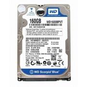 "Жесткий диск WD1600BPVT, WD Scorpio Blue 2.5"", 160GB, SATA II фото"