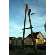 Опоры деревянные ЛЭП фото