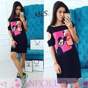 Женское модное платье с принтом,в расцветках фото