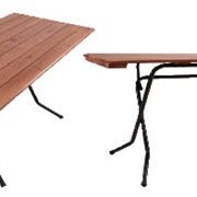 Прямоугольные реечные столы, тип ног - ривьера фото