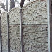 Заборы бетонные фото