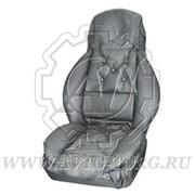 Чехол на сиденье для грузовых иномарок универсальный кожзам, серый фото