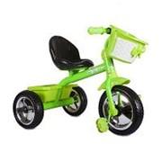 """Велосипед Zilmer """"Сильвер Люкс"""" (3 колеса EVA 10/8"""", сталь, спинка, 2 корзины, зелён.) фото"""