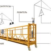 Фасадный подъемник (люлька строительная)  фото